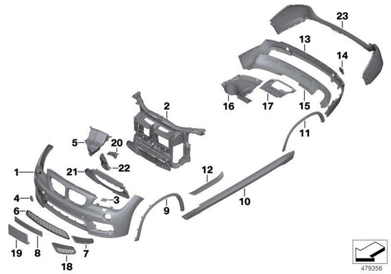 BMW Genuine M Performance Trim Primed Towing Lug Tow Fitting Kit