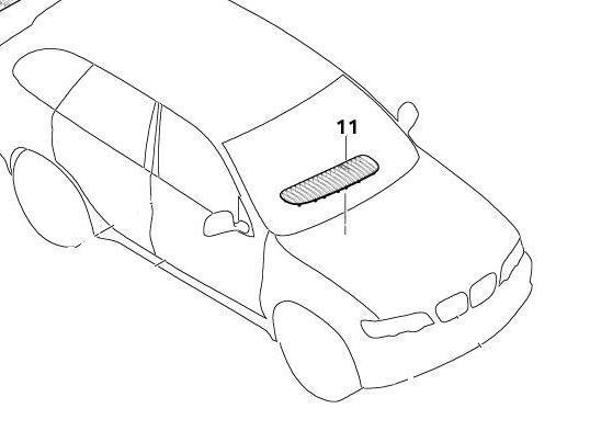 BMW Genuine Front Right Bonnet Air Inlet Grille Panel Trim