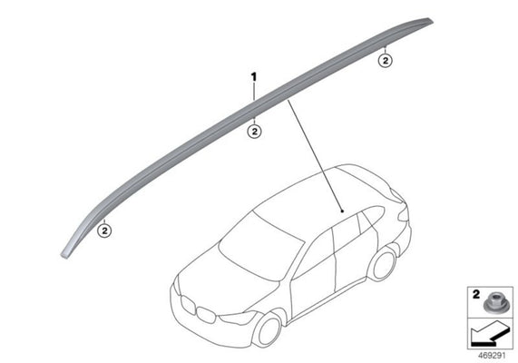 BMW Genuine Roof Rack Rail Carrier Right O/S Driver Side