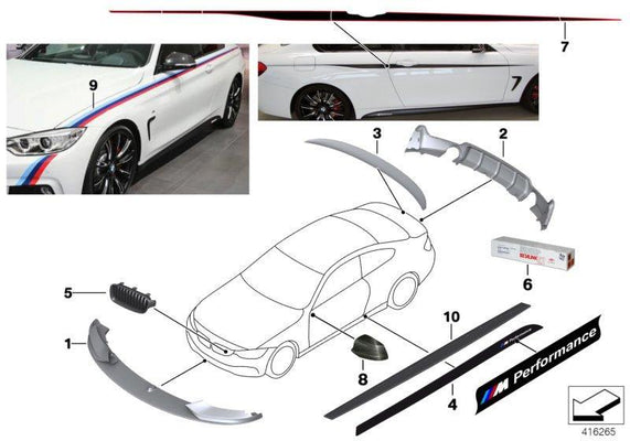 Genuine BMW Right OS Left NS Foil Side Sill 4 Series