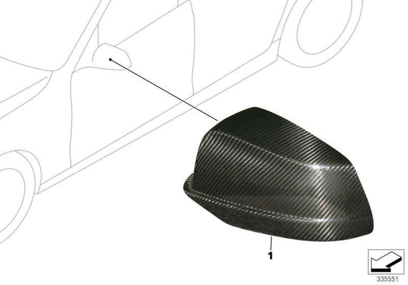 BMW Genuine M Performance Carbon Wing Mirror Cap Cover N/S