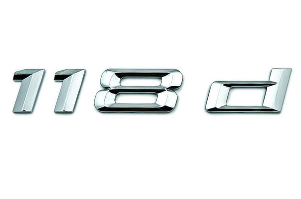 "BMW Genuine ""118d"" Self-Adhesive Badge Emblem"