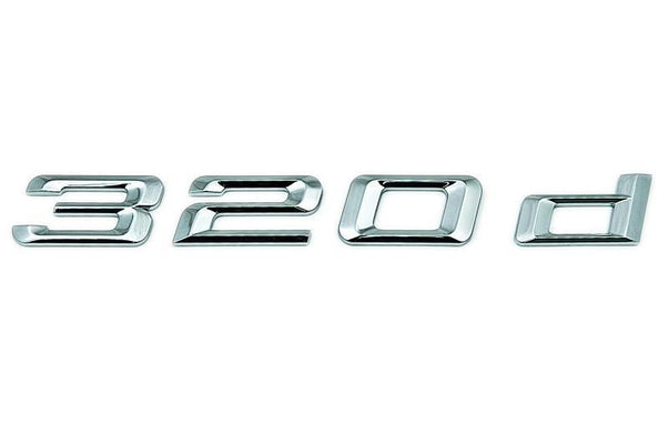 "BMW Genuine ""320d"" Adhesive Sticker Badge Emblem"