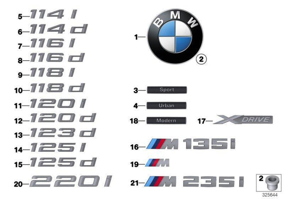 Genuine BMW Model Lettering Side Badge Emblem SPORT LINE