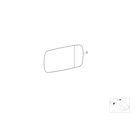 BMW Genuine Left NS Wing Mirror Glass Heated Aspherical