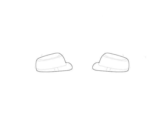 BMW Genuine Wing Mirror Cover Caps Primed Set Kit