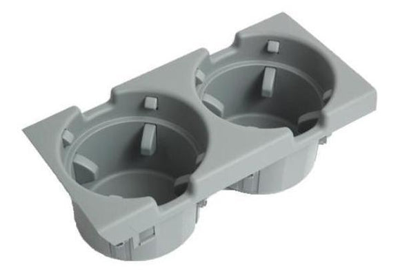 BMW Genuine Front Center Console Cup/Drink Holder Grey