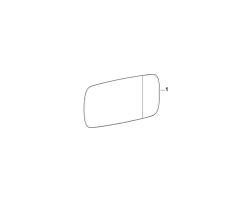 BMW Genuine Wide Angle Wing Mirror Glass Heated
