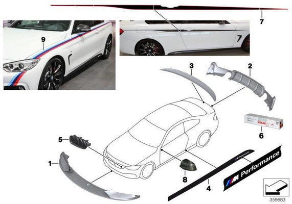 BMW M Performance Genuine Black Matt Rear Lip Spoiler