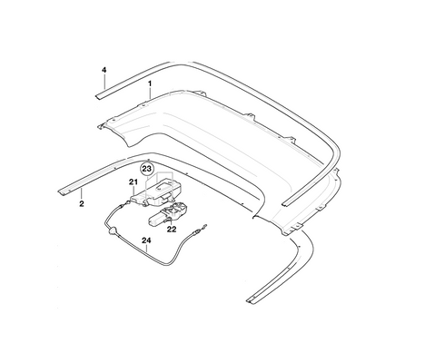 BMW Genuine Soft Top Boot Lid Locking Mechanism Drive