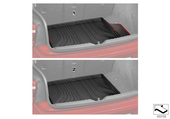 BMW Genuine Fitted Luggage Compartment Mat Sport Black / Red