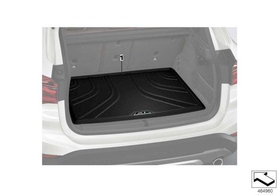BMW Genuine Fitted Luggage Compartment Matte Black Boot Trunk Mat