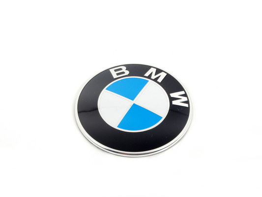 BMW Genuine Emblem Logo Plaque Badge 82mm For Roof Box