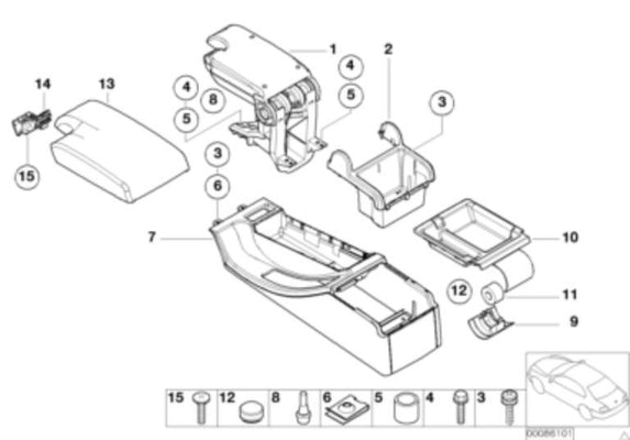 BMW Genuine 1 Plug For Center Console