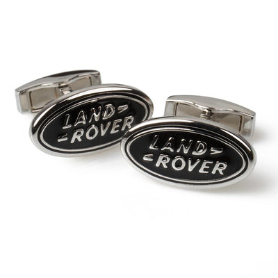 Land Rover Oval Cufflink - Black