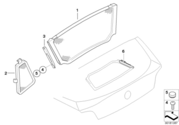 BMW Genuine Exterior Bracket Left N/S For Wind Deflector