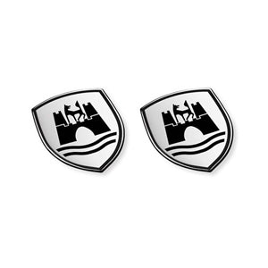 VW Wolfsburg Crest Decals - Black x2