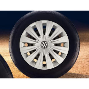 "VW 15"" Wheel Trims - Brilliant Silver"