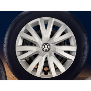 "VW 16"" Wheel Trims - Brilliant Silver"