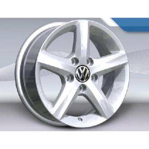 "VW 15"" Aspen Brilliant Silver Alloy Wheel"