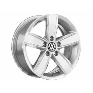 "VW 15"" Corvara Brilliant Silver Alloy Wheel - ET 47"