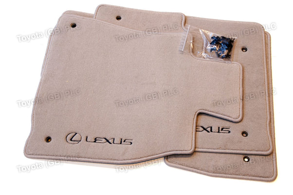 Lexus LS 460/600 4x Carpet Floor Mats 830g  Light Grey
