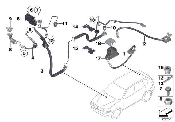 BMW Genuine Earth Battery Cable Plus Pole SBK2.2