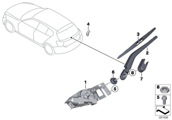 BMW Genuine Rear Window Wiper Blade