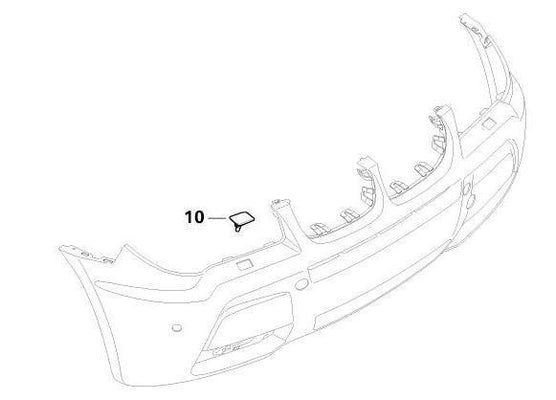 BMW Genuine Front Right Headlight Washer Cover Primed