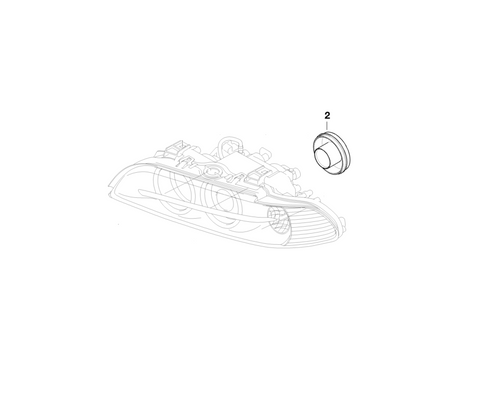 BMW Genuine Xenon Headlight Head Lamp Low Beam Cover