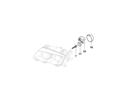 BMW Genuine Headlight Xenon Light Ignition Element