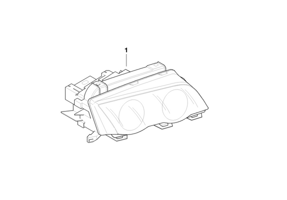 BMW Genuine Headlight Head Lamp Right