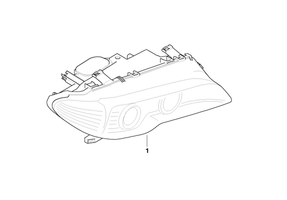 BMW Genuine White Turn Indicator Right Headlight