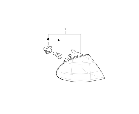 BMW Genuine Front Turn Indicator Light Right