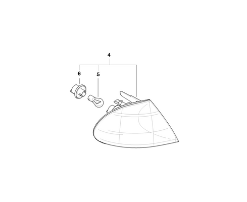 BMW Genuine Front Turn Indicator Light White Right