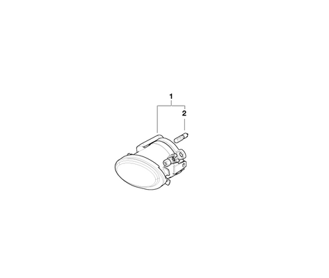 BMW Genuine Fog Lamp/Light Left