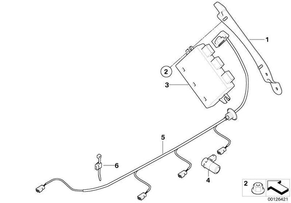 BMW Genuine Rear PDC Parking Distance Control Sensor Ultrasonic