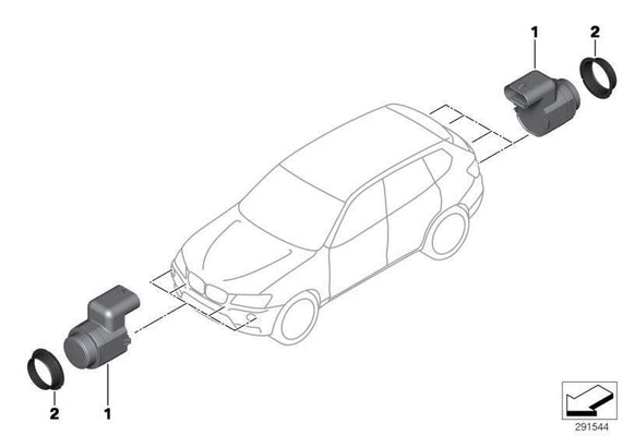 BMW Genuine Front PDC Parking Distance Control Sensor Ultrasonic