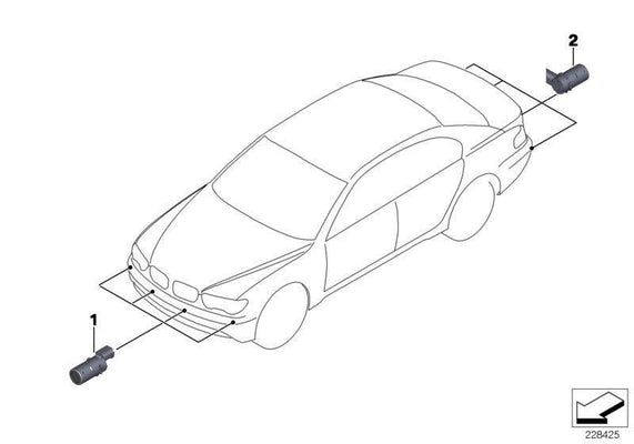 BMW Genuine PDC Ultrasonic Parking Sensor Monaco Blue