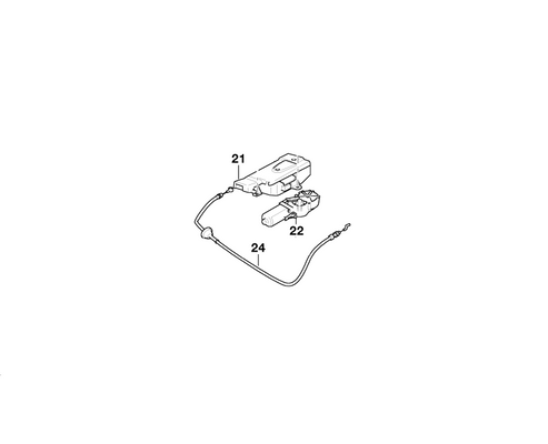 BMW Genuine Folding Roof Top Flap Drive Motor
