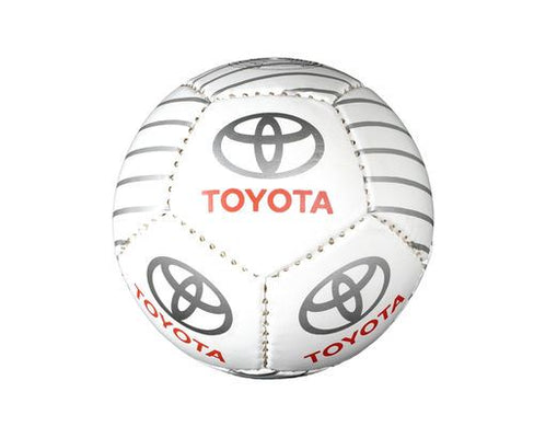 Genuine Toyota Logo Football Foot Ball Silver|Red|White Size 5|Mini (deflated)