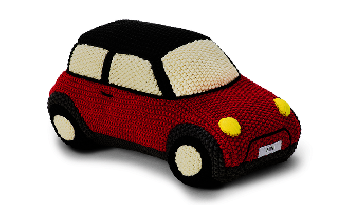 MINI Genuine Childrens Kids Knitted Car Toy Soft