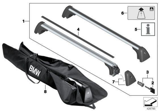 BMW F46 2 Series Gran Tourer Roof Bars