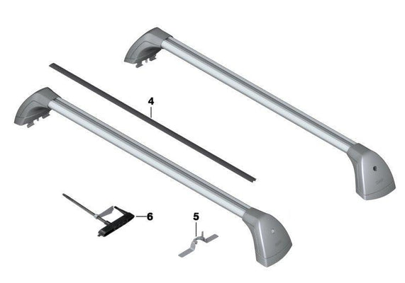 BMW Genuine Roof Rack Bars Gutter Protectors Set of 4