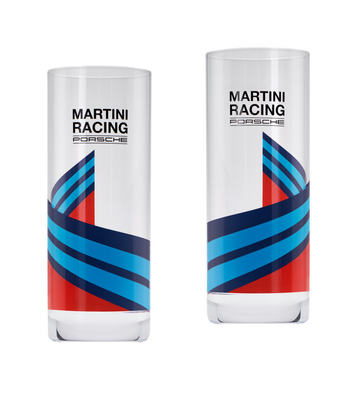 Porsche Longdrink Glasses  MARTINI RACING