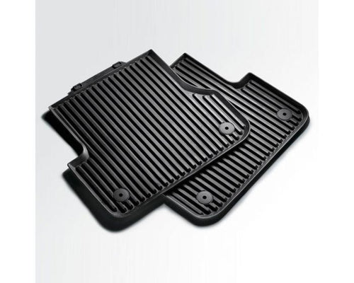 Audi Rear Rubber Car Mats for Audi A4 and Audi A5 Models - black