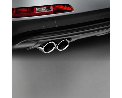 Audi Twin Left Sport Tailpipe Trims for Audi Q3 Models - silver