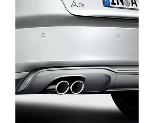 Audi Twin Left Sport Tailpipe Trims for Audi A3 Models - silver
