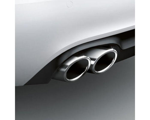 Audi Twin Left Sport Tailpipe Trims for Audi A4 and Audi A5 Models - silver