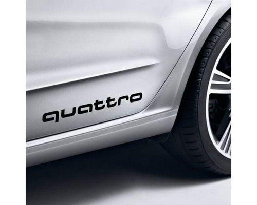 Audi Black quattro Decals